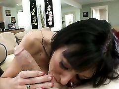 Alia Janine Cant Stand Against Guys Erect Implement And Takes It In Her Mouth