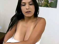Allyson Surprises Us With Her Beautiful Mulatto Big Natural Udders And Hot Bj