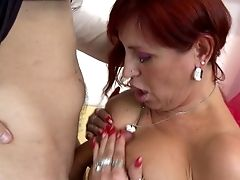 Tattooed Sandy-haired Permits The Skinny Fellow To Penetrate Her Beaver