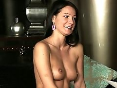 Totally Naked Dark-haired Gives Interview To Bare-chested Blonde Cindy Hope