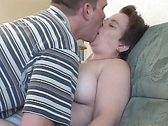 Matures Dame Tits Fondled When Her Cunny Is Tongued On Sofa