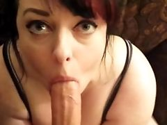 Huge-titted Wifey Deepthroat Fellatio Gagging For Thick Facial Cumshot Jizz Shot! Point Of View!