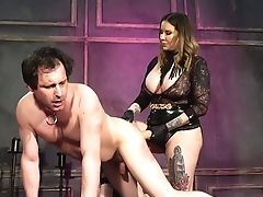 Maitresse Madeline Marlowe Uses Belt Dick For Fucking Obedient Dude