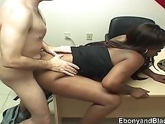 Two Ebonys Tongued And Fucked By Milky Fellow