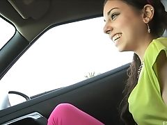 Dude Films A Hot Backside Teenager Ambling Around In High High-heeled Shoes. Hd