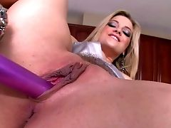 Naked Platinum-blonde Honey Alexis Texas In High High-heeled Slippers Displays Her