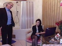 German  Latina Nubile Fuck With Old Stud