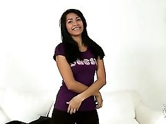 Ruth Medina With Puny Tits And Trimmed Muff Plays With Herself For Camera
