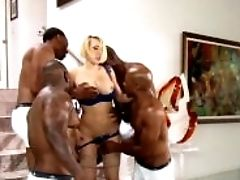 Kagney Linn Karter Group-fucked By Four Black Guys