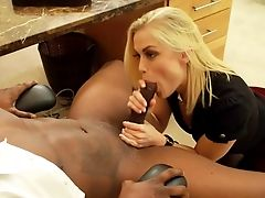 Interracial Office Pornography Along Blonde Ash Hollywood