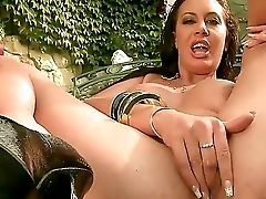 Outdoor Scene With A Gorgeous Stunner Named Emma Butt Who Masturbates With A Tool