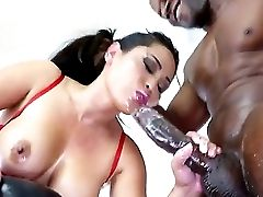 Attractive Asian Mummy Jessica Bangkok With Big Tits And Soft Milky Skin In Crimson Undergarments Gets Her Shaven Demolished By Black Bull Prince Yahs