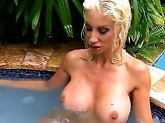 Big Tittied Blondie Puma Swede Is Going To Spend Never-to-be-forgotten Time Alone In This Act. She Is Becoming Naked On Poolside Before Spreading Gams