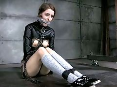 Chained And Belted Brown-haired Is Ready For Penalty
