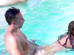 Sunny Afternoon Pool Fuck Stroy Along Top Nikki Benz