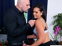 Torrid Dark Haired Actress Kelsi Monroe Fucked Savagely In A Rear End Position