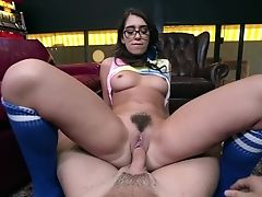 Joseline Kelly Gets Her Unshaved Poon Fucked And Finger-tickled By Her Paramour