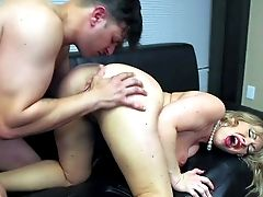 Chubby Manager Anthony Rosano Makes His Curvy Provocative Blonde Assistant