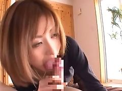 Slender Japanese Screamer Akari Loves Sitting On Top Of Dicks