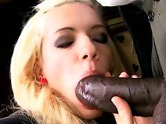 Buxom Eye Catching Auburn Girlie Is Topping Strong Big Black Dick