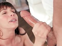 Horny Mom Wants Her Sonny's Big Dick In Her Mouth