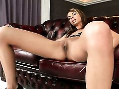 Dark Haired Betty Stylle Has Some Time To Stroke Her Love Fuck-hole