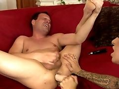 Big-titted Black-haired Brandy Aniston In High Black Leather Boots Loves