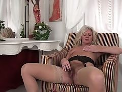 Matures Blonde In Sexy Undergarments Ellen B Is Finger Fucking Her Muff