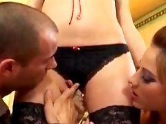 Sexy Porno Beauties Bounced Hard To A Horny Hot Stud's Dick