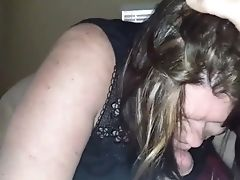 Cougar Wifey Sucking My Man Sausage