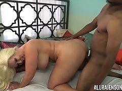 Alura Jenson Jacks Off A Black Pink Cigar With Her Feet
