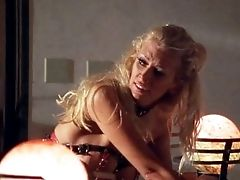 Old School Blonde Cougar Prettily Ravished Gonzo Missionary In Couch