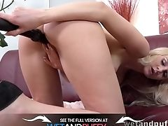 Black Faux-cock For Stunning Blonde Honey