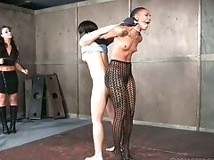 Crazy Mistress Is Penalizing Black Muff Of Tied Up Hooker Nikki Darling