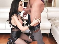 Bitch In Ripped Fishnet Pantyhose Trinity St Clair Gets Fucked Rectally