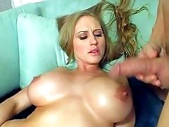 Adorable Exhilarated Blonde Bombshell With Enormously Big Rock Hard Gazongas In