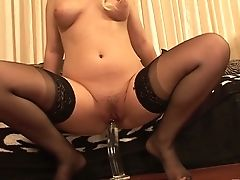 Too Insatiable Blonde Mummy Brooke Scott Cannot Stop Fucking With Fucktoys