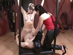 Legendary Ffm Female Dominance Flick Featuring Two Fuckfest-starved Mistresses In Masks