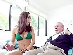 Intercourse Kitty Kira Perez Gets Active With Her Step Grandpa