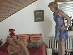 Horny Man Drills His Gf's Mom Labia