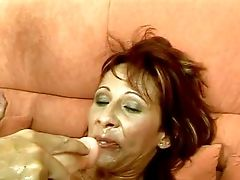 Revved On Whorish Mummy With Natural Tits In Ripped Fishnet