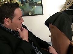 Bitchy Blonde Haired Milfy Lady Manager Alana Evans Spreads Her